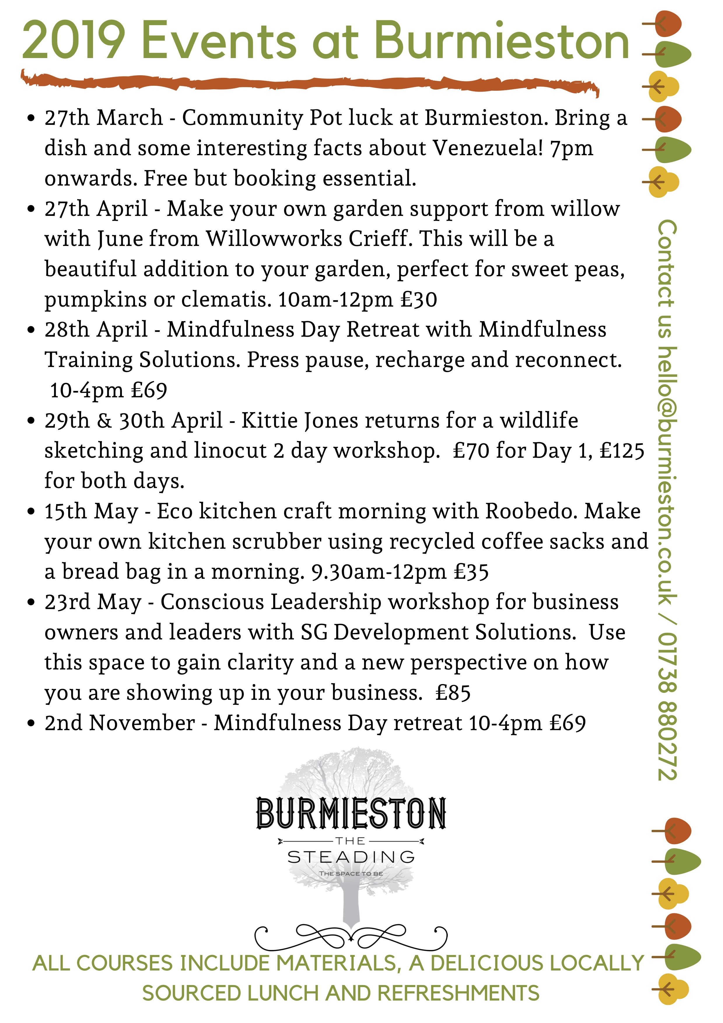 2019 Events at Burmieston